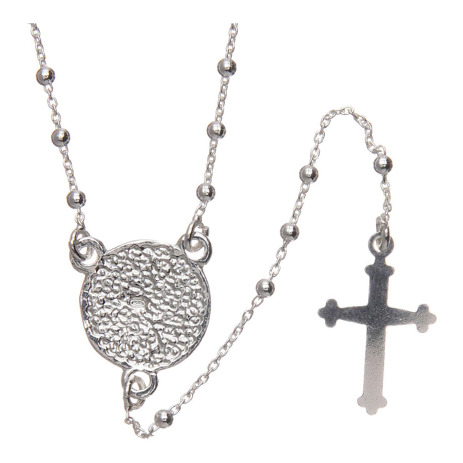 Rosario Padre Pio argento 925 diametro 1,5 mm 4