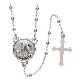 Rosario Padre Pio argento 925 diametro 1,5 mm s1