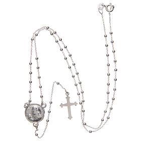 Rosario Padre Pio argento 925 diametro 1,5 mm s4