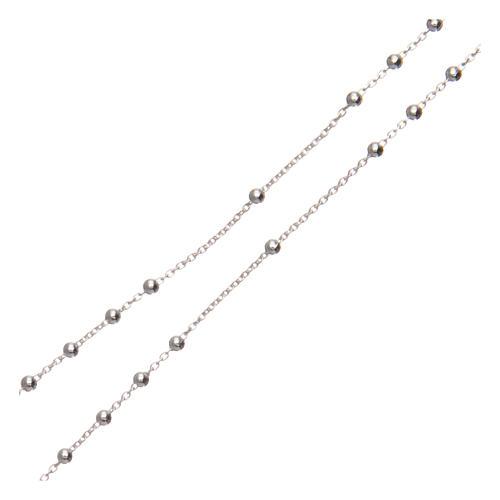 Terço Padre Pio prata 925 diâmetro 1,5 mm 3