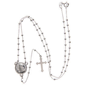 Padre Pio rosary 925 silver 1.5 mm s4