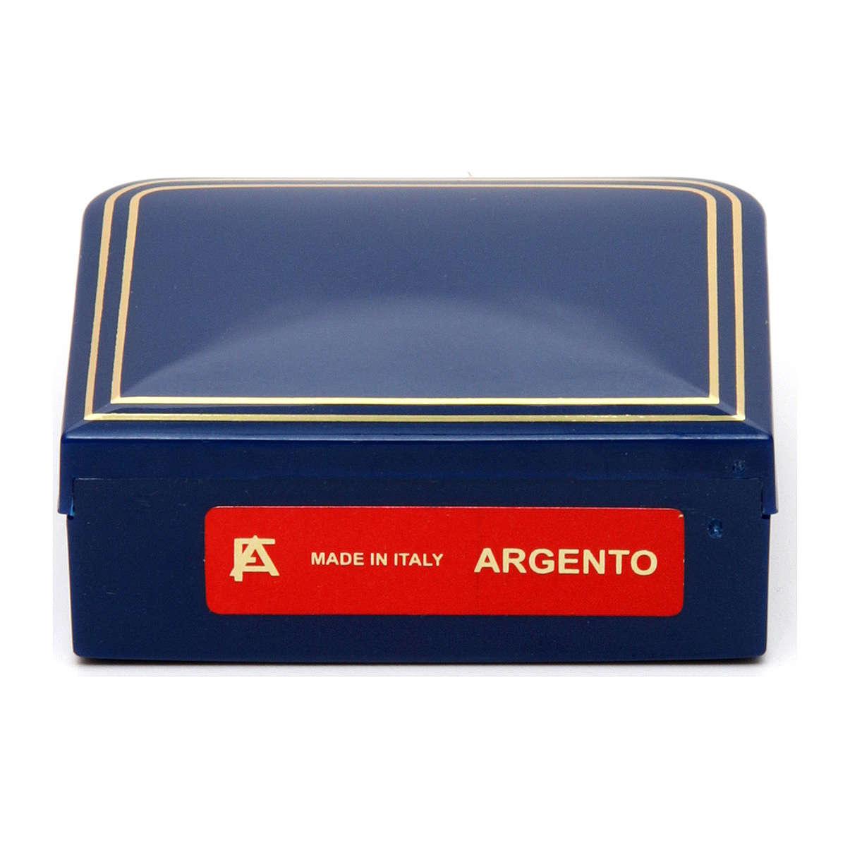 Rosario San Pio argento 925 grani tondi 2,5 mm 4