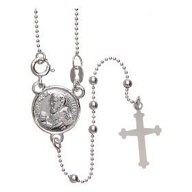 Rosario San Pio argento 925 grani tondi 2,5 mm s1