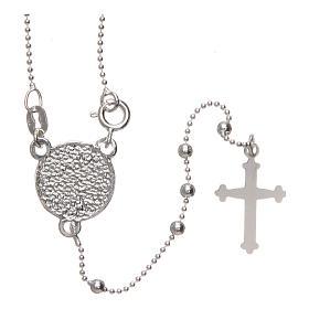 Rosario San Pio argento 925 grani tondi 2,5 mm s2