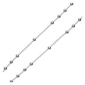 Rosario San Pio argento 925 grani tondi 2,5 mm s3