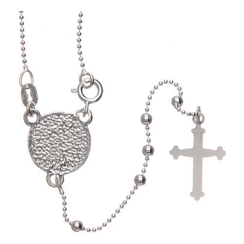 Rosario San Pio argento 925 grani tondi 2,5 mm 2