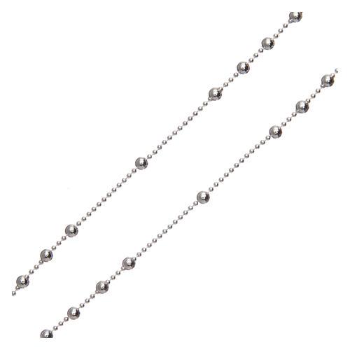 Rosario San Pio argento 925 grani tondi 2,5 mm 3