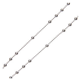 Padre Pio rosary 925 silver round beads 2.5 mm s3