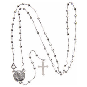 Padre Pio rosary 925 silver round beads 2.5 mm s4