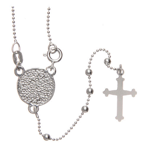 Padre Pio rosary 925 silver round beads 2.5 mm 2