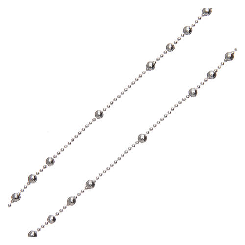 Padre Pio rosary 925 silver round beads 2.5 mm 3