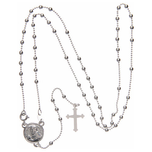 Padre Pio rosary 925 silver round beads 2.5 mm 4