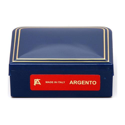 Rosario plata 925 chapada oro granos redondos 3 mm 5