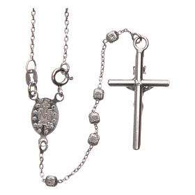 Rosary in 925 silver with cubic beads and fastener s2