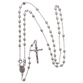 Rosary in 925 silver with cubic beads and fastener s4