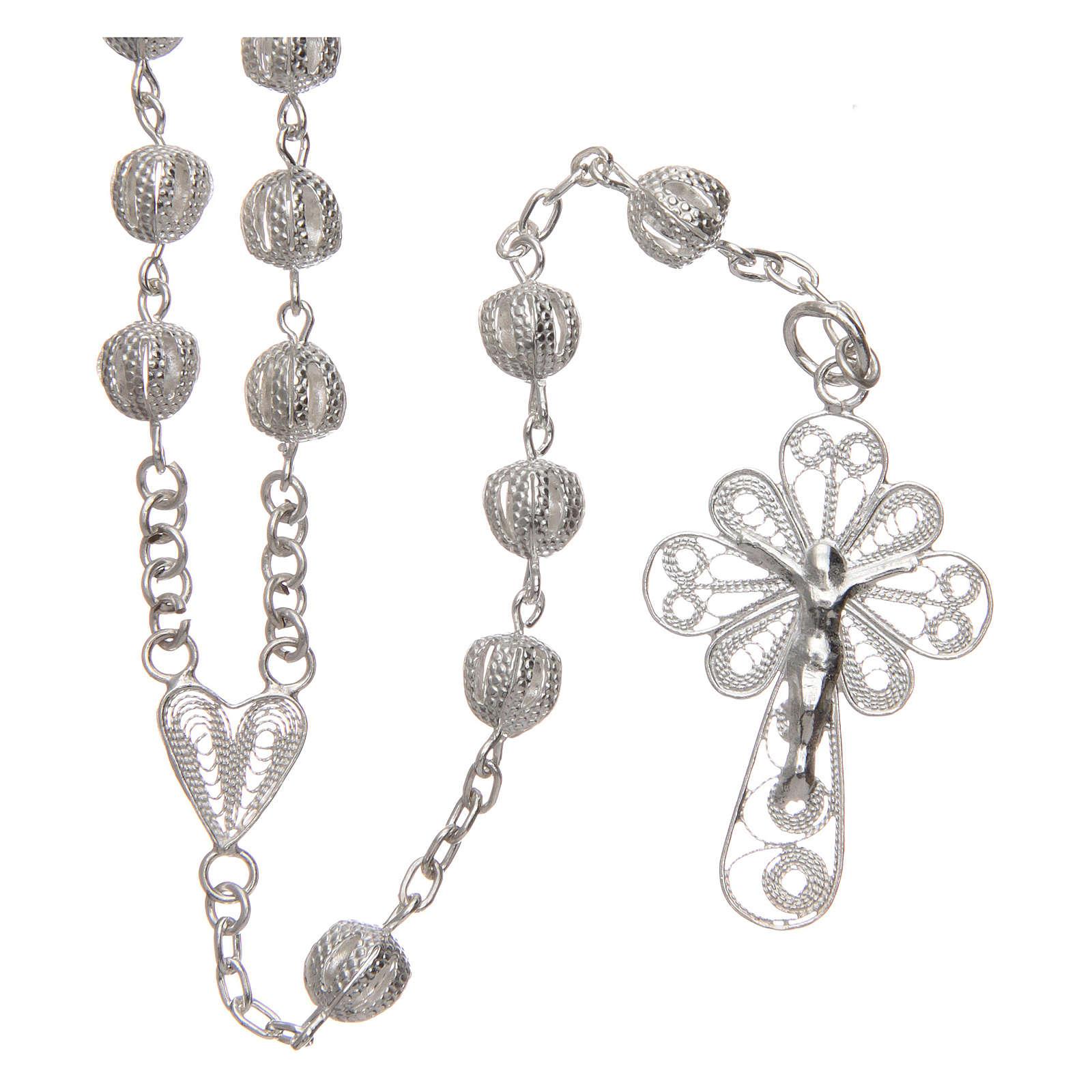 Rosenkranz Kette AMEN forsa Silber 925 Perlen 2.5mm 4