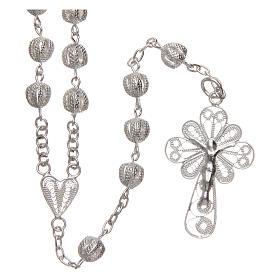 Rosenkranz Kette AMEN forsa Silber 925 Perlen 2.5mm s1