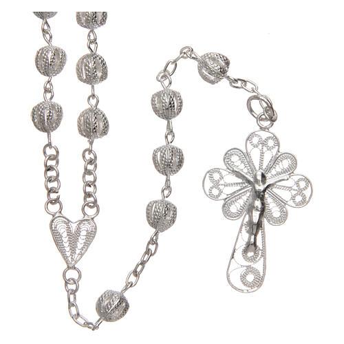 Rosenkranz Kette AMEN forsa Silber 925 Perlen 2.5mm 1