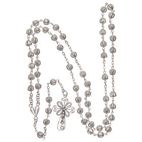 Filigree rosary round beads 925 silver 6 mm s4