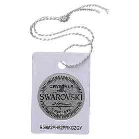 Collar rosario plata 925 con Swarovski transparentes s4