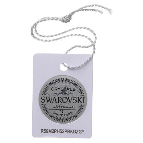 Collier chapelet argent 925 avec Swarovski transparents 4