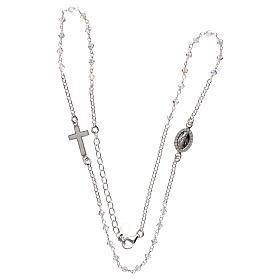 Collana rosario argento 925 con Swarovski trasparenti s3