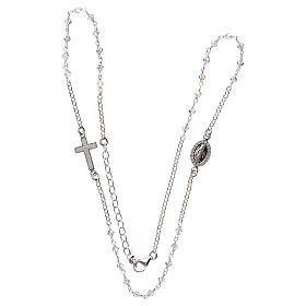 Rosary necklace 925 silver with transparent Swarovski s3