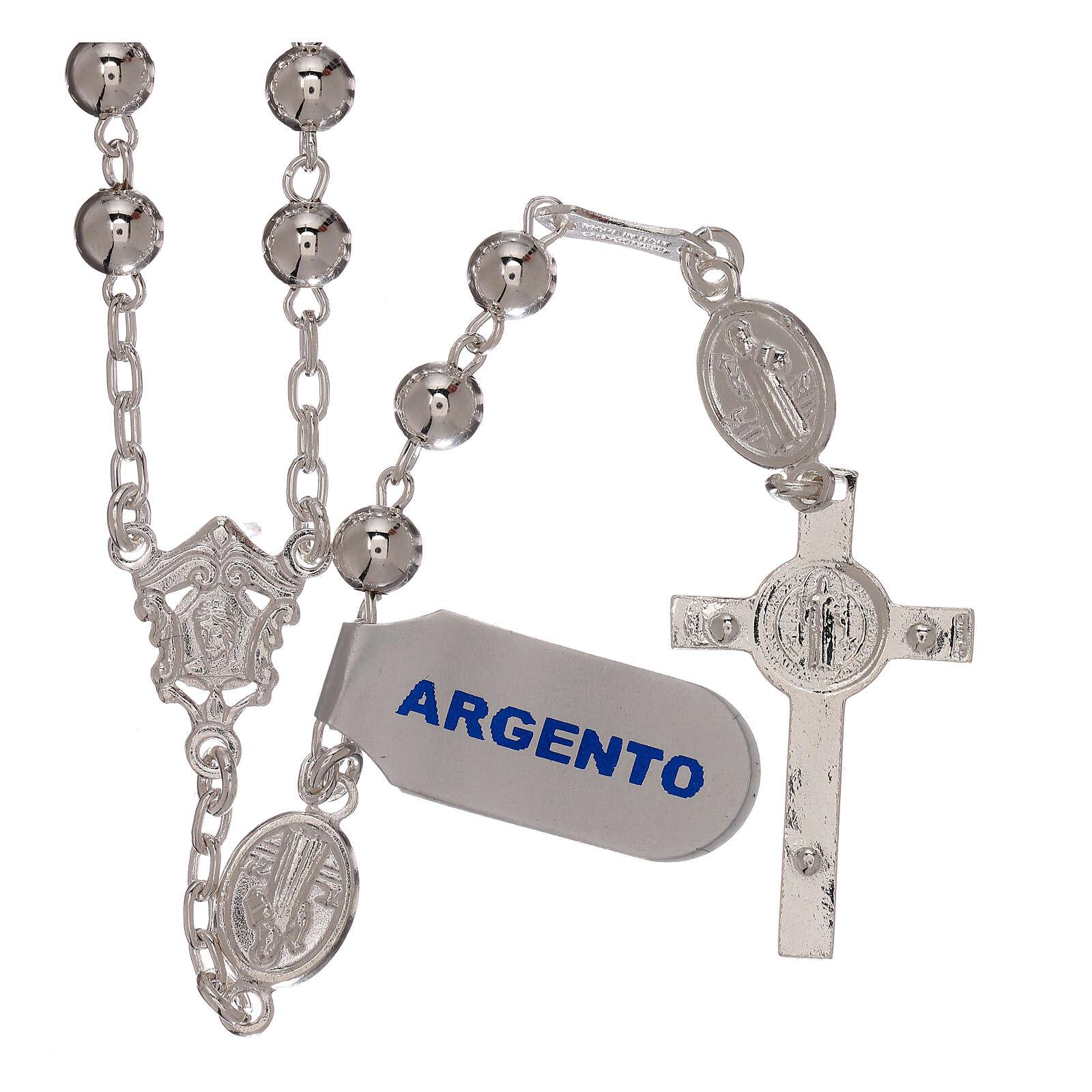 Rosario san Benito plata 925 4