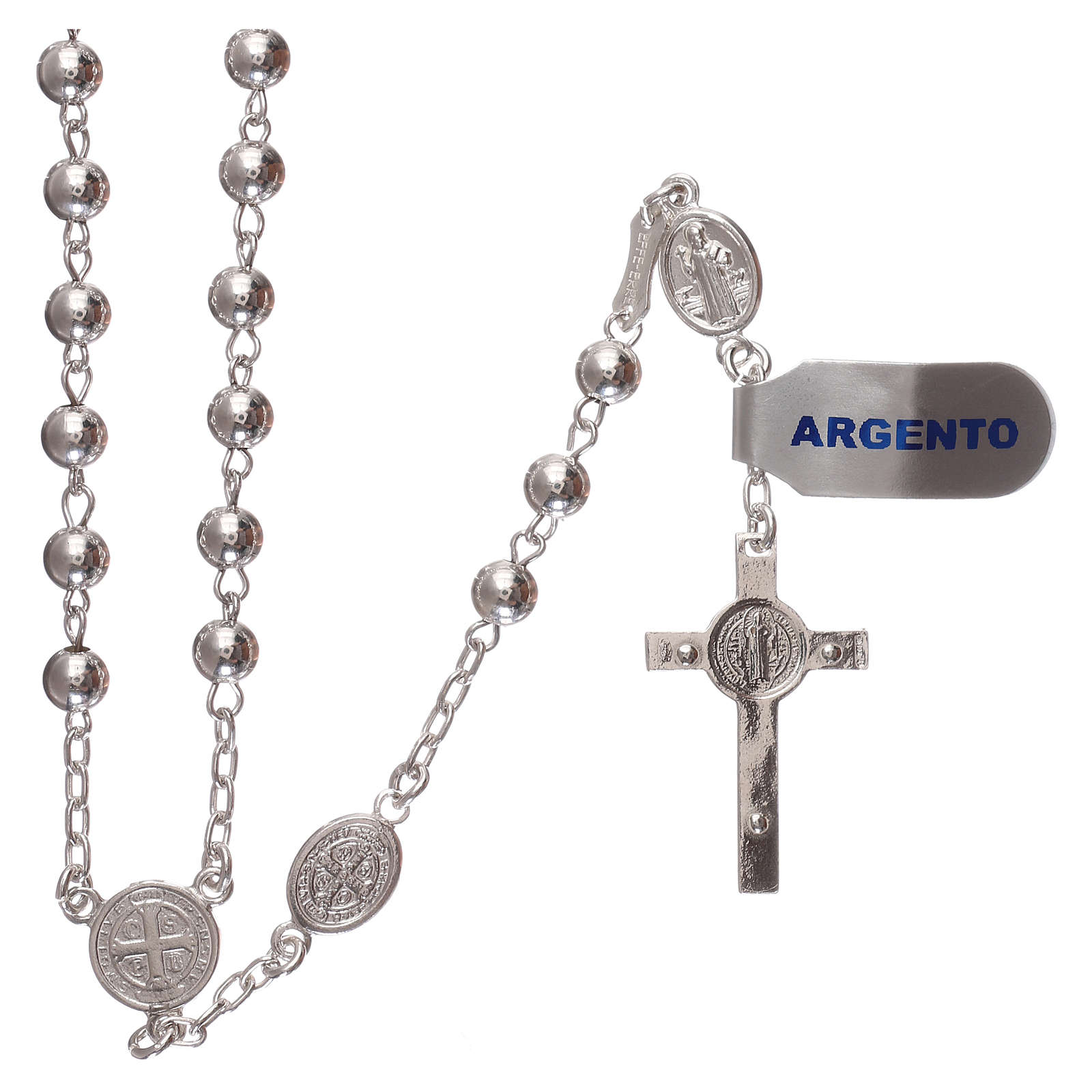 Rosario san Benedetto argento 925 4