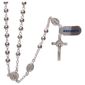 Rosario san Benedetto argento 925 s1