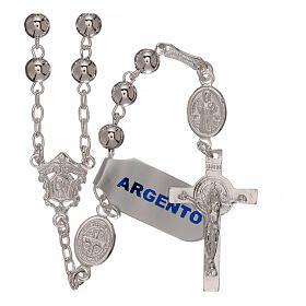Rosario san Benedetto argento 925 s5