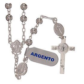 Rosario san Benedetto argento 925 s6