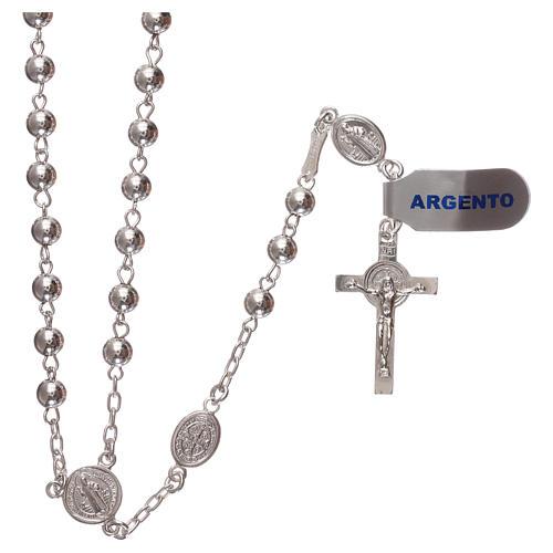 Rosario san Benedetto argento 925 1