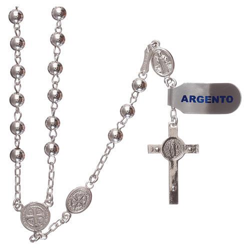 Rosario san Benedetto argento 925 2