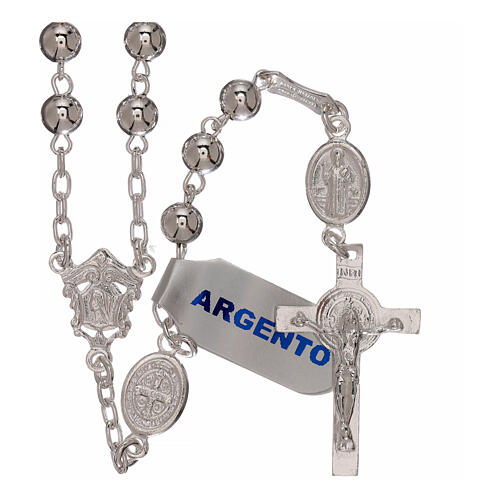 Rosario san Benedetto argento 925 5