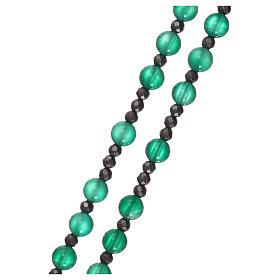 Rosario argento 925 e agata verde s3
