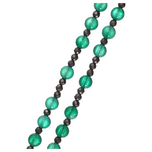 Rosario argento 925 e agata verde 3
