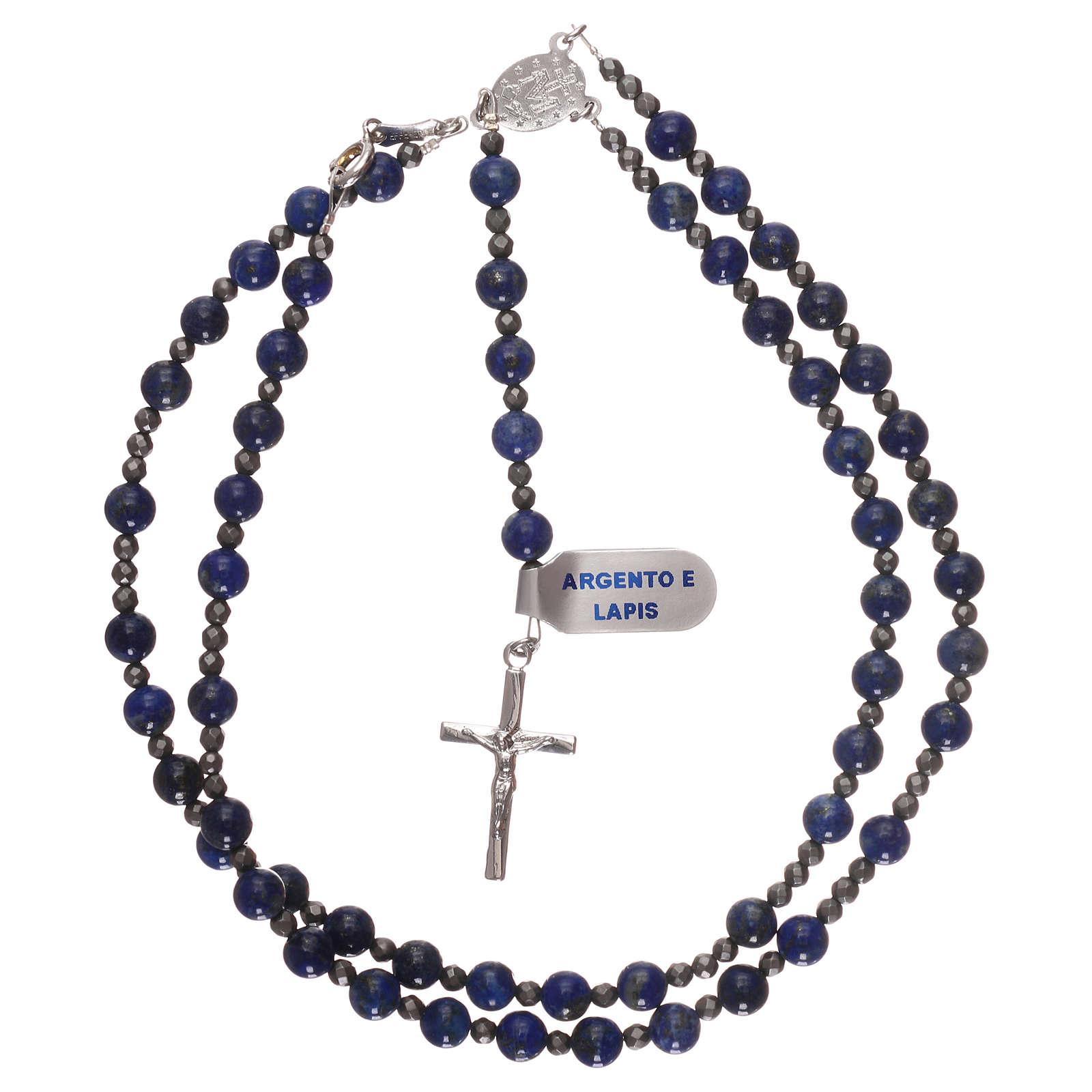 Chapelet argent 925 et lapis-lazuli 4