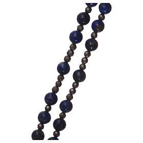 Chapelet argent 925 et lapis-lazuli s5