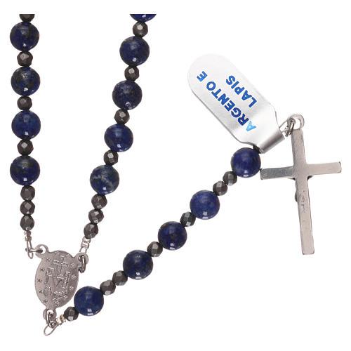 Chapelet argent 925 et lapis-lazuli 2