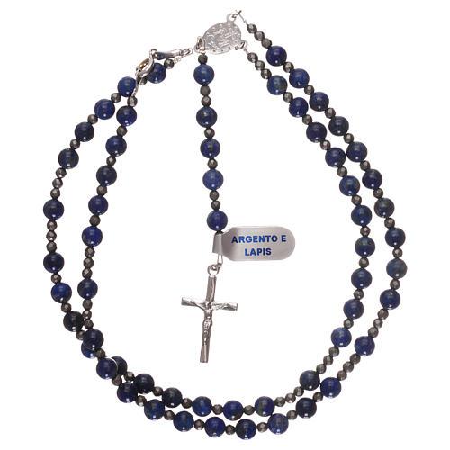 Chapelet argent 925 et lapis-lazuli 3