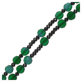 Rosary satin-finished crystal green beads and 925 silver s3
