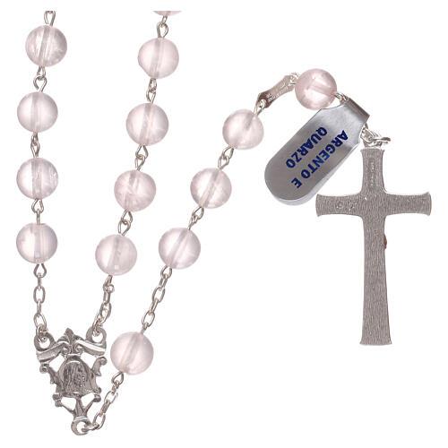 Rosary quartz and 925 silver 2