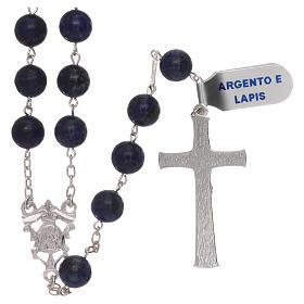 Rosario grani lapis con croce e crociera argento 925 s2