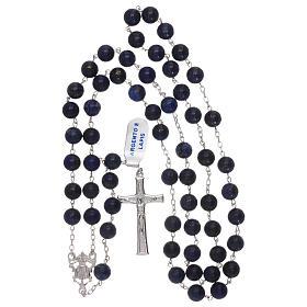 Rosario grani lapis con croce e crociera argento 925 s4