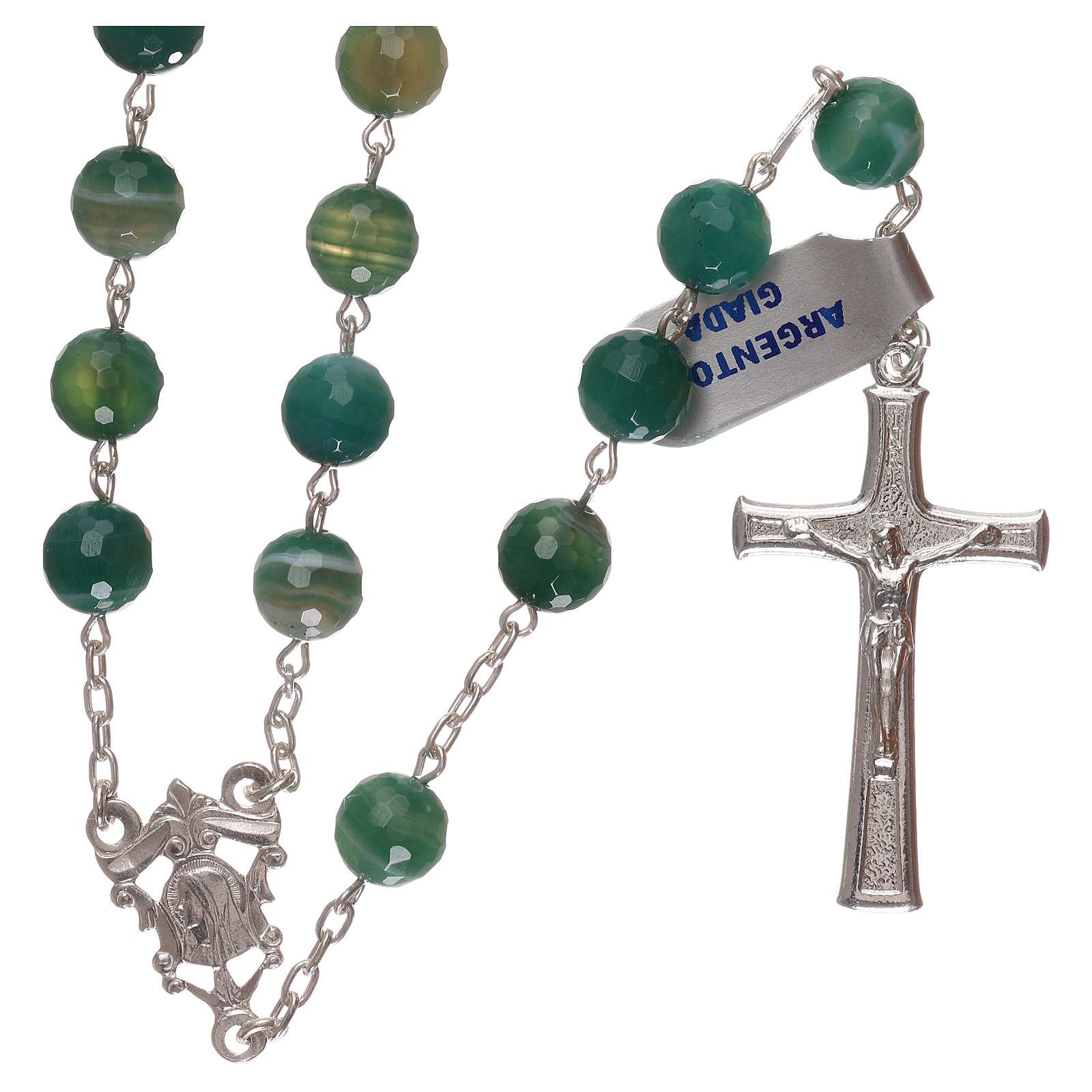 Rosario croce e crociera arg 925 e grani giada 4