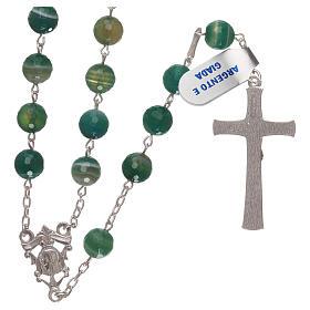 Rosario croce e crociera arg 925 e grani giada s2