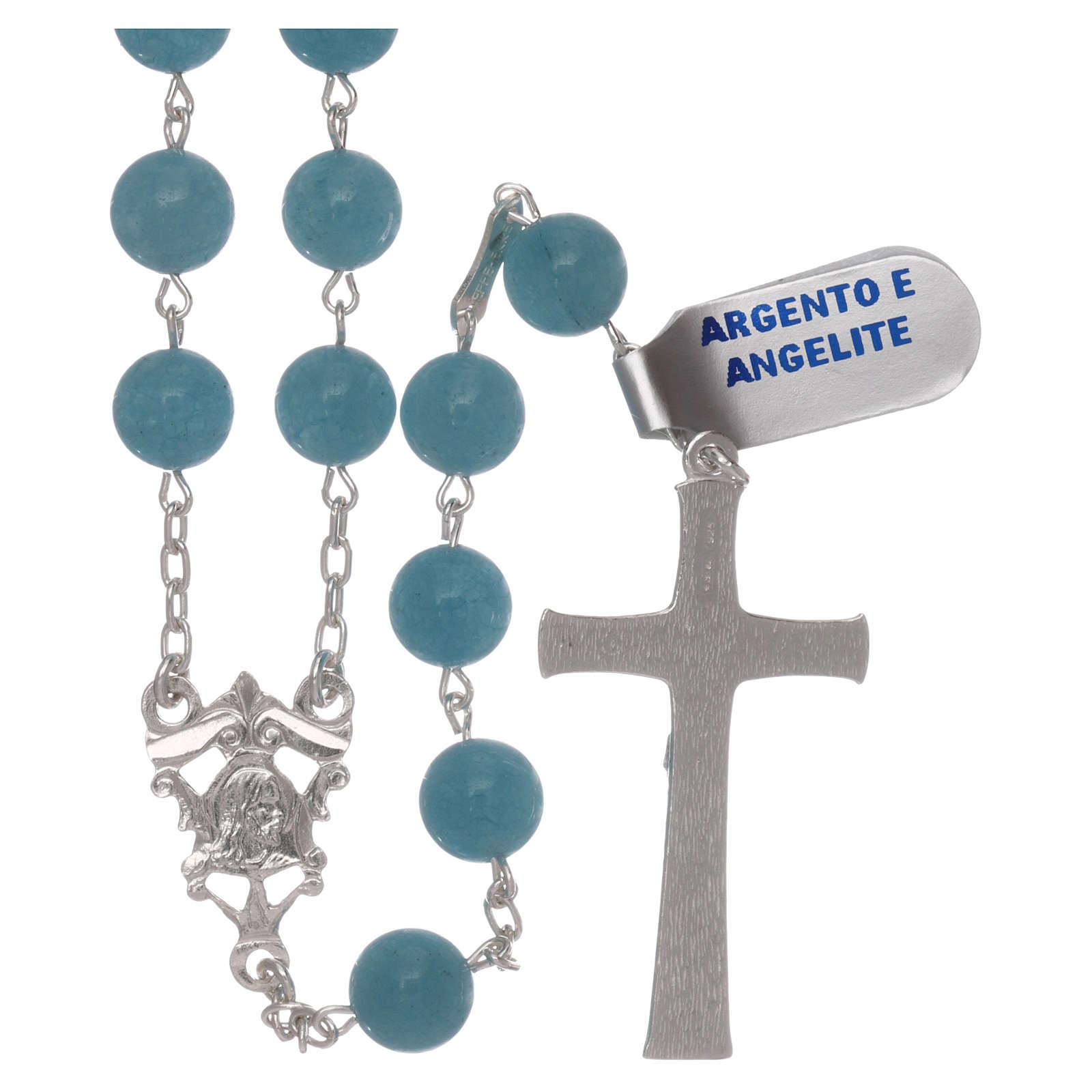 Chapelet angélite et argent 925 4