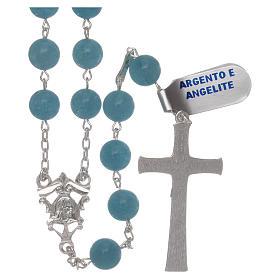 Chapelet angélite et argent 925 s2