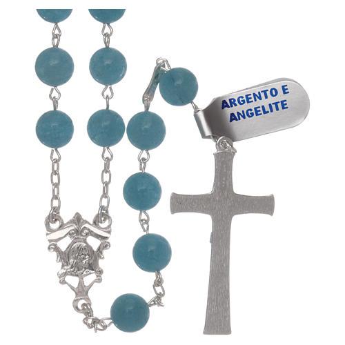 Chapelet angélite et argent 925 2